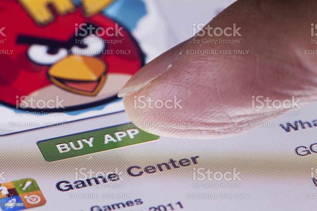Buying app stock photo