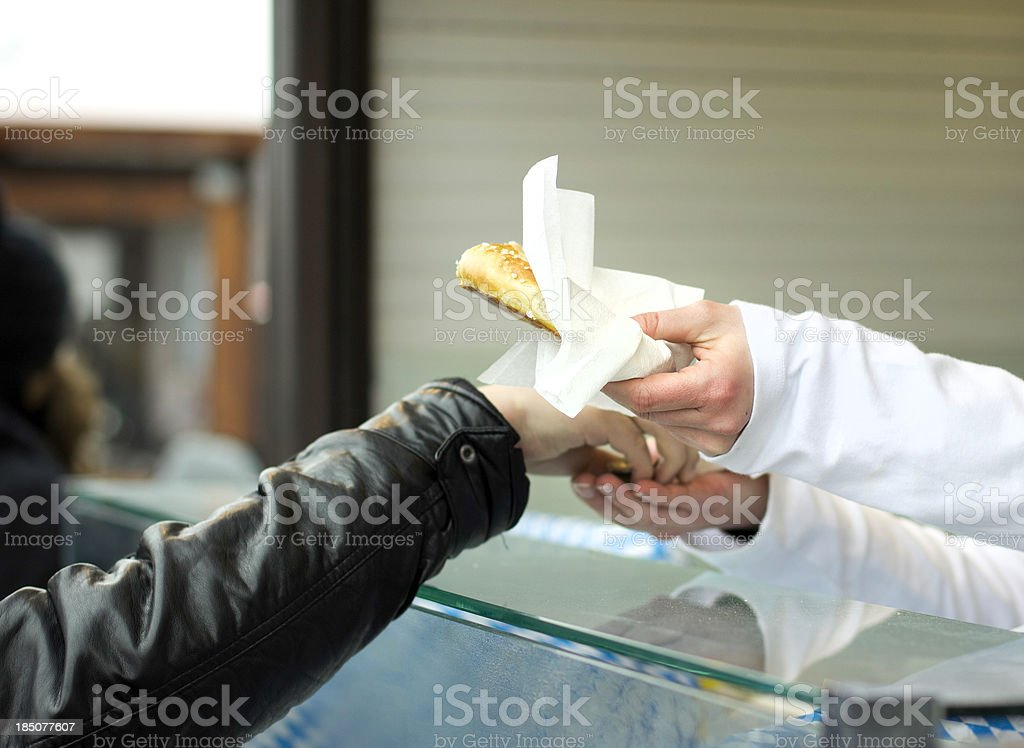buying bread royalty-free stock photo