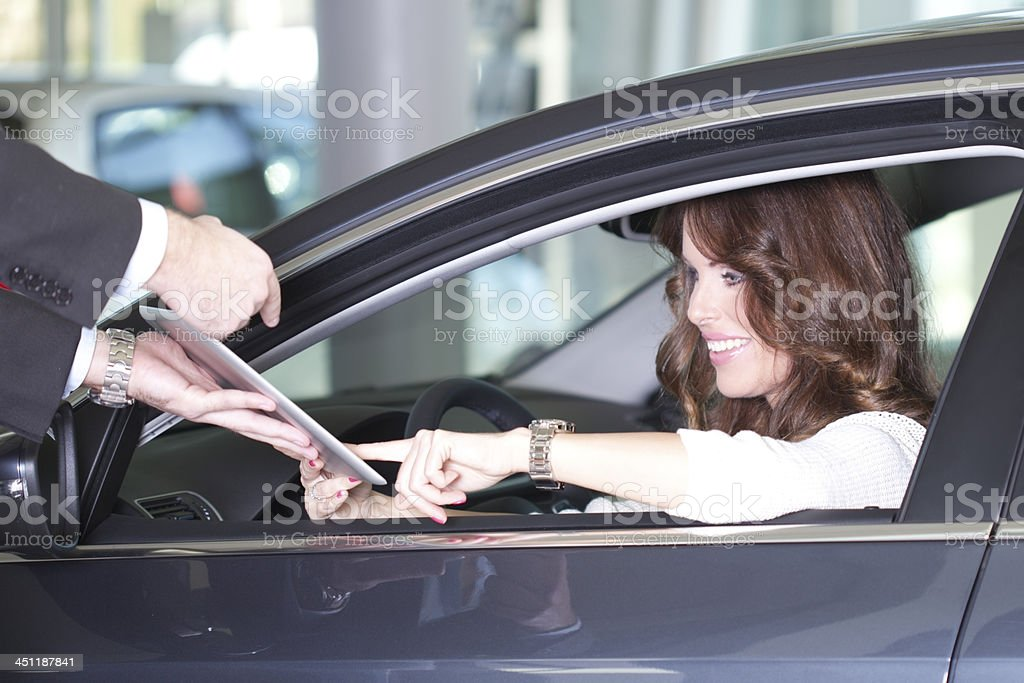 Buying car royalty-free stock photo