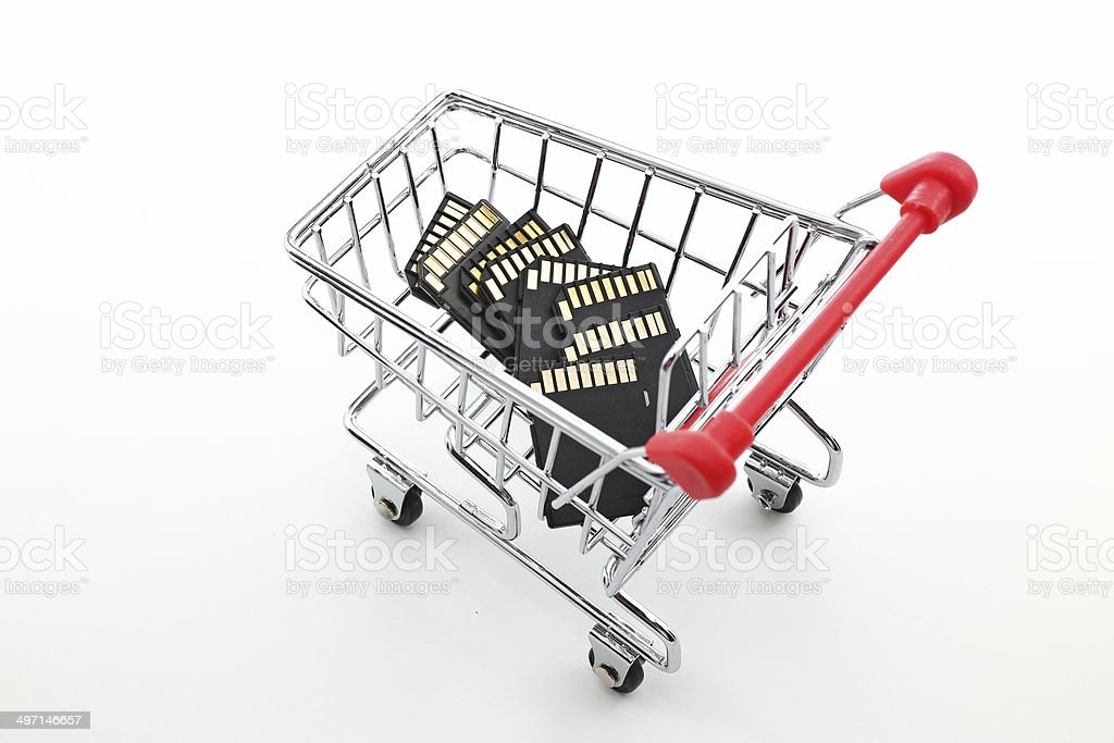 Buying data storage stock photo