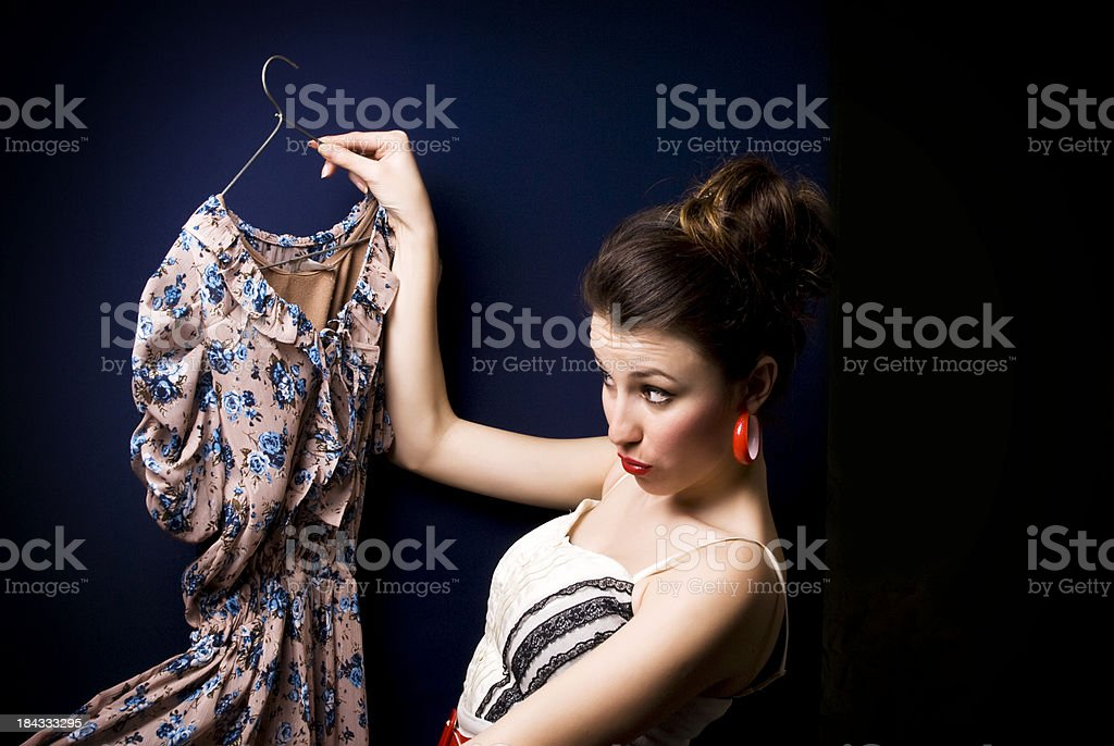 Buying Dress stock photo
