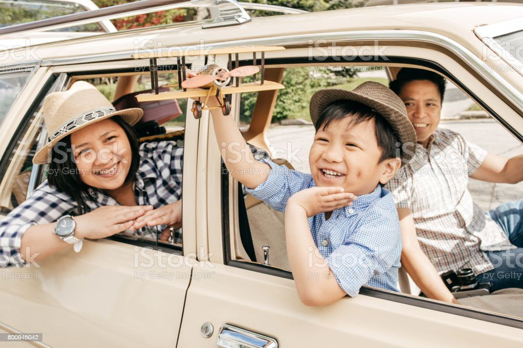 Buying family car stock photo