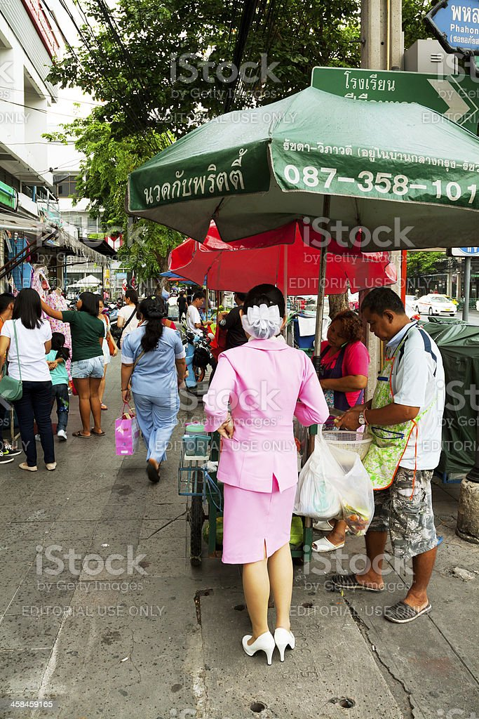 Buying food royalty-free stock photo