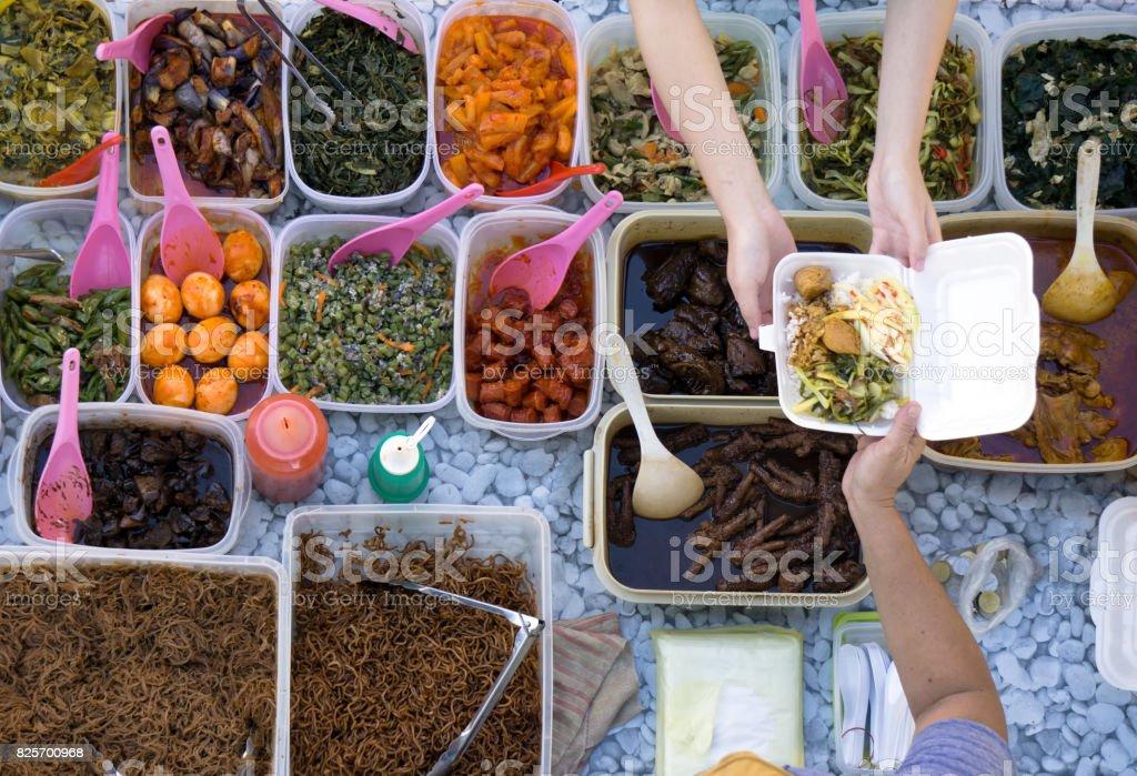 Buying Food stock photo
