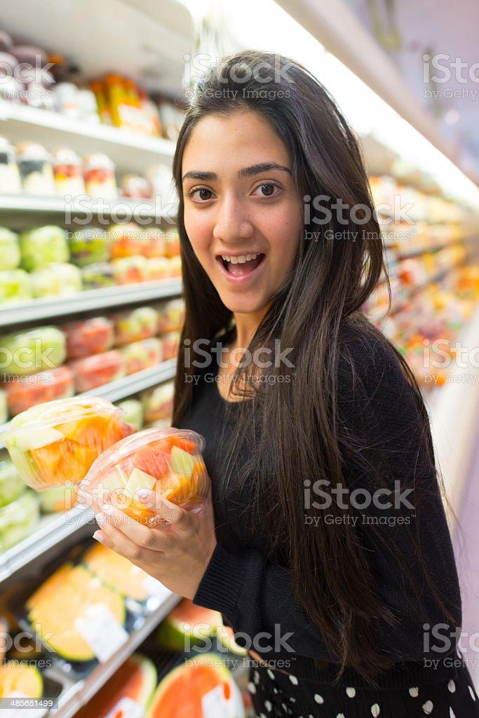 Buying fruit royalty-free stock photo