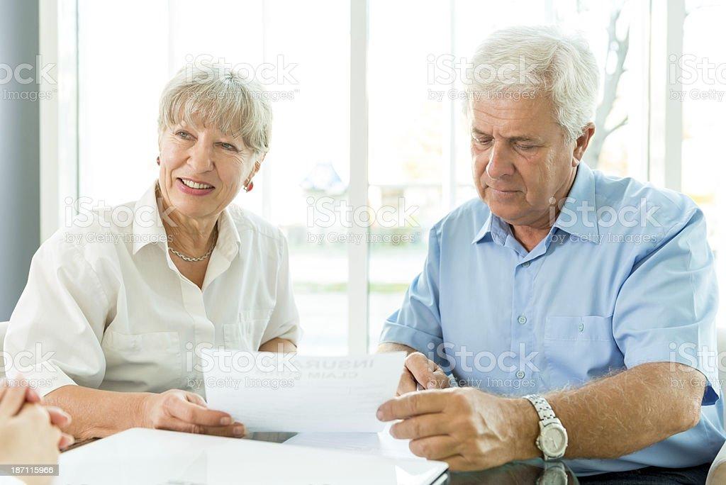 Buying insurance royalty-free stock photo