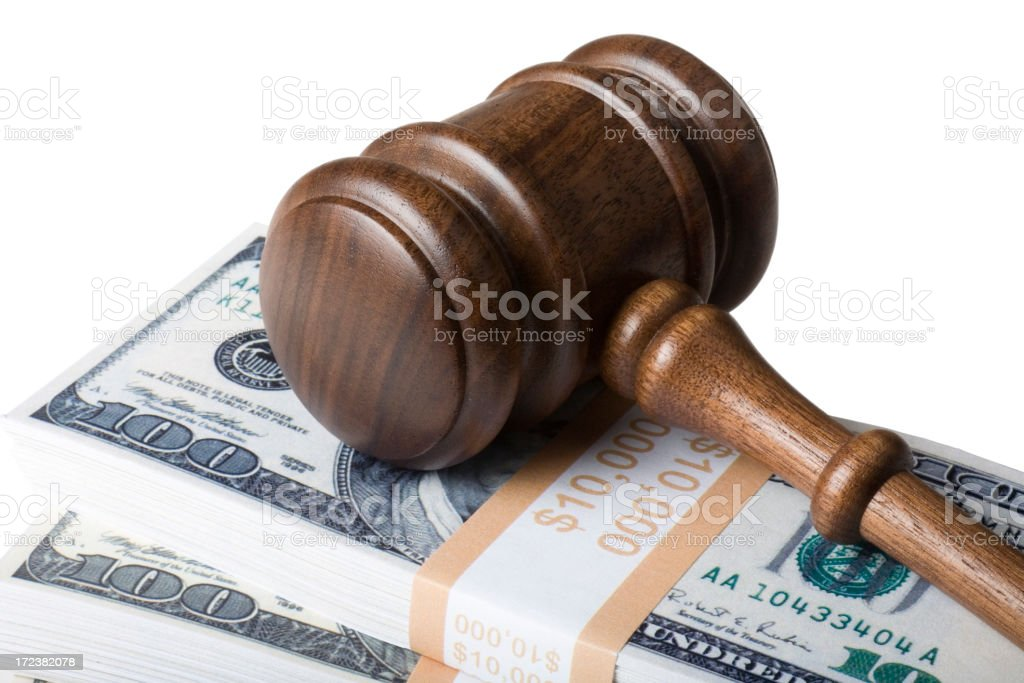 Buying justice royalty-free stock photo