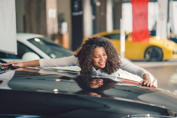 Buying new car stock photo