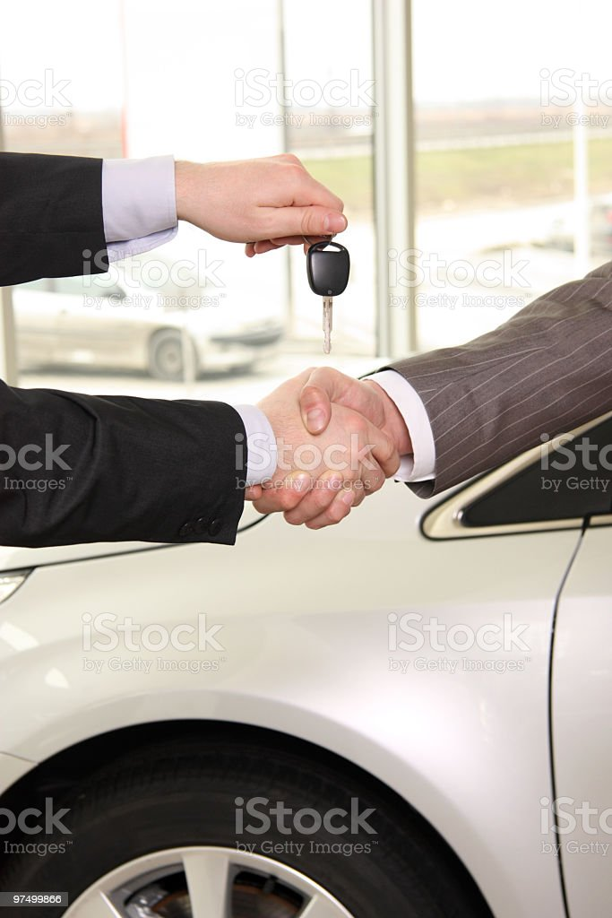 Buying new car. royalty-free stock photo