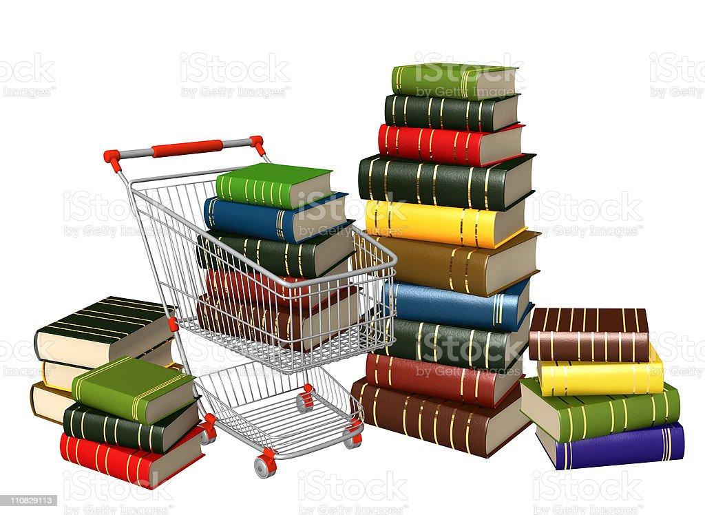 Buying of books stock photo
