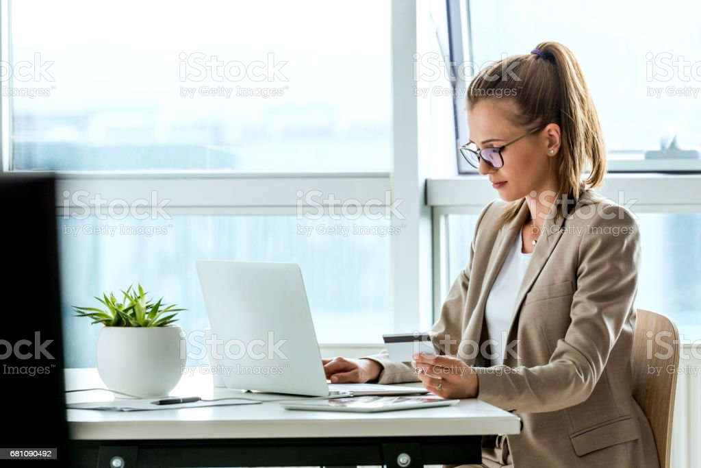 Buying on the internet royalty-free stock photo