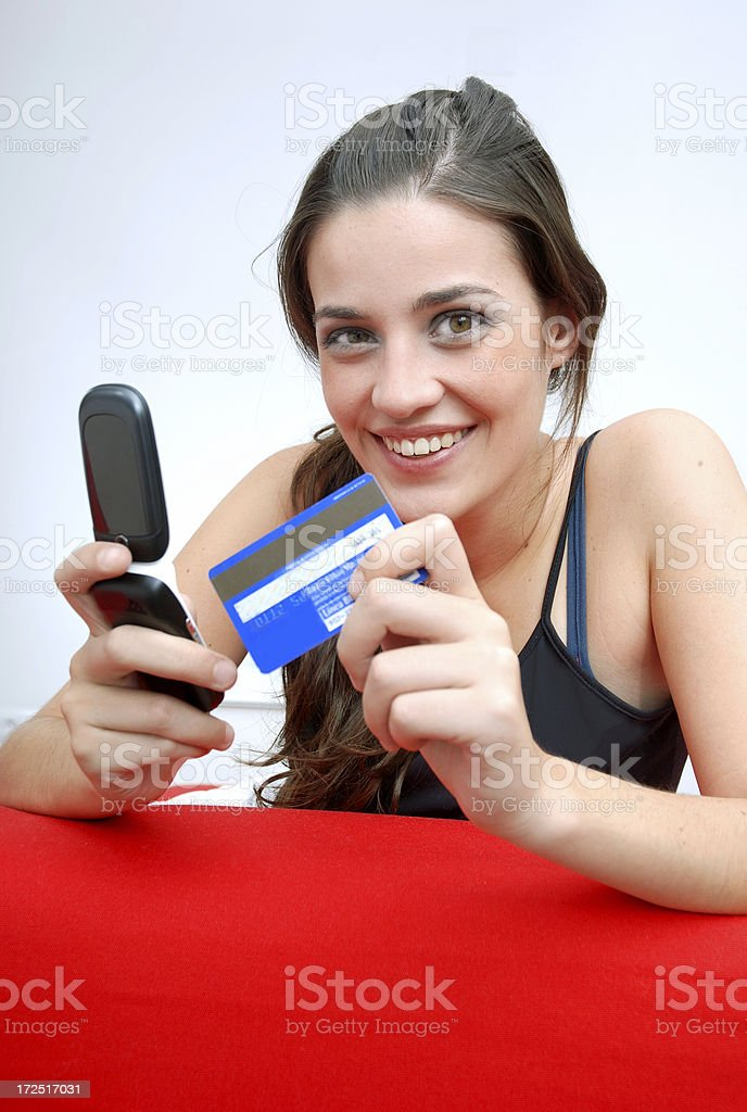 Buying online royalty-free stock photo