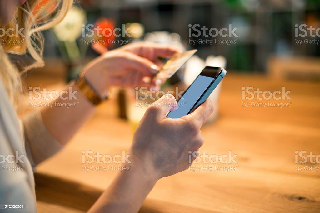 Buying online stock photo