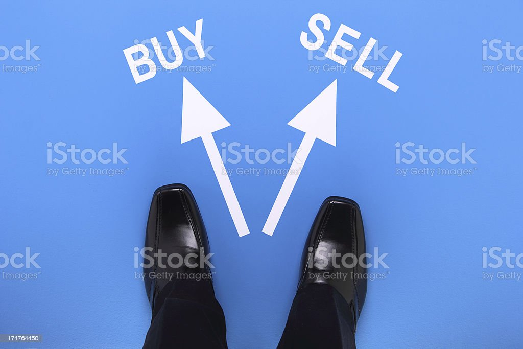 Buying or Selling royalty-free stock photo