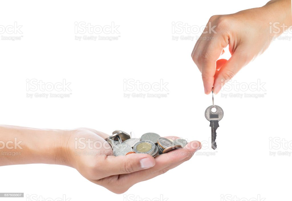 Buying property concept stock photo