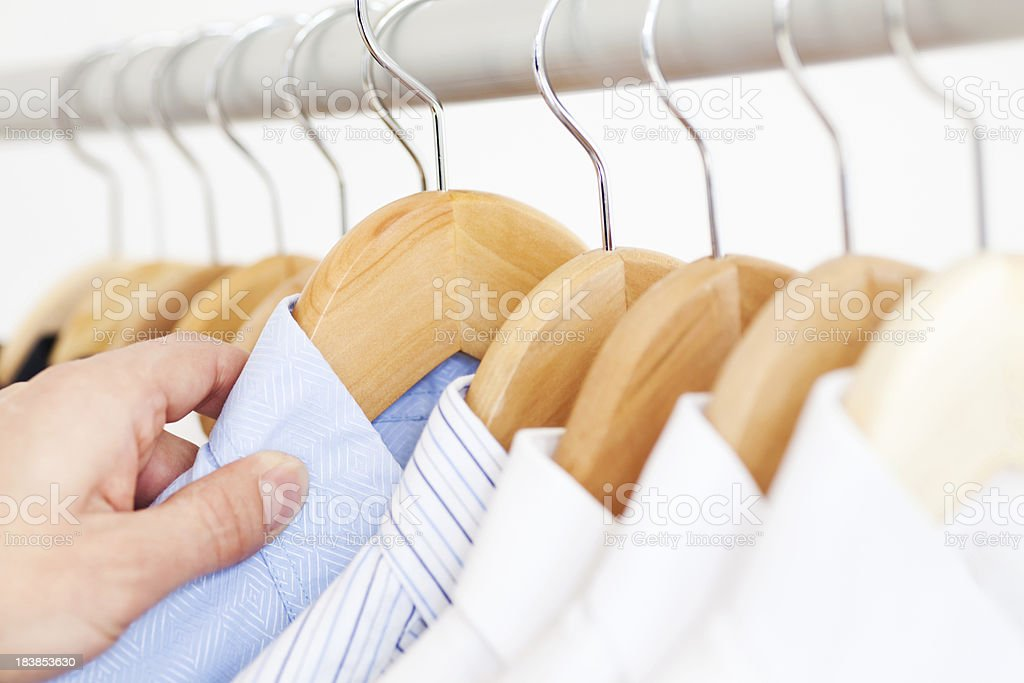 Buying Shirt royalty-free stock photo