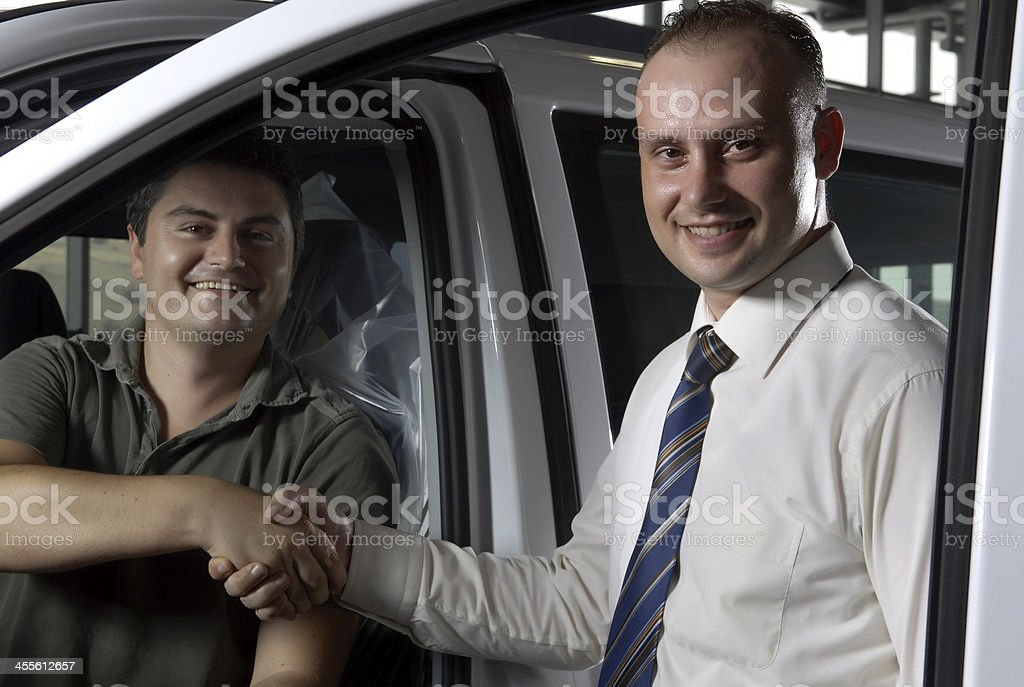 Buying the car royalty-free stock photo