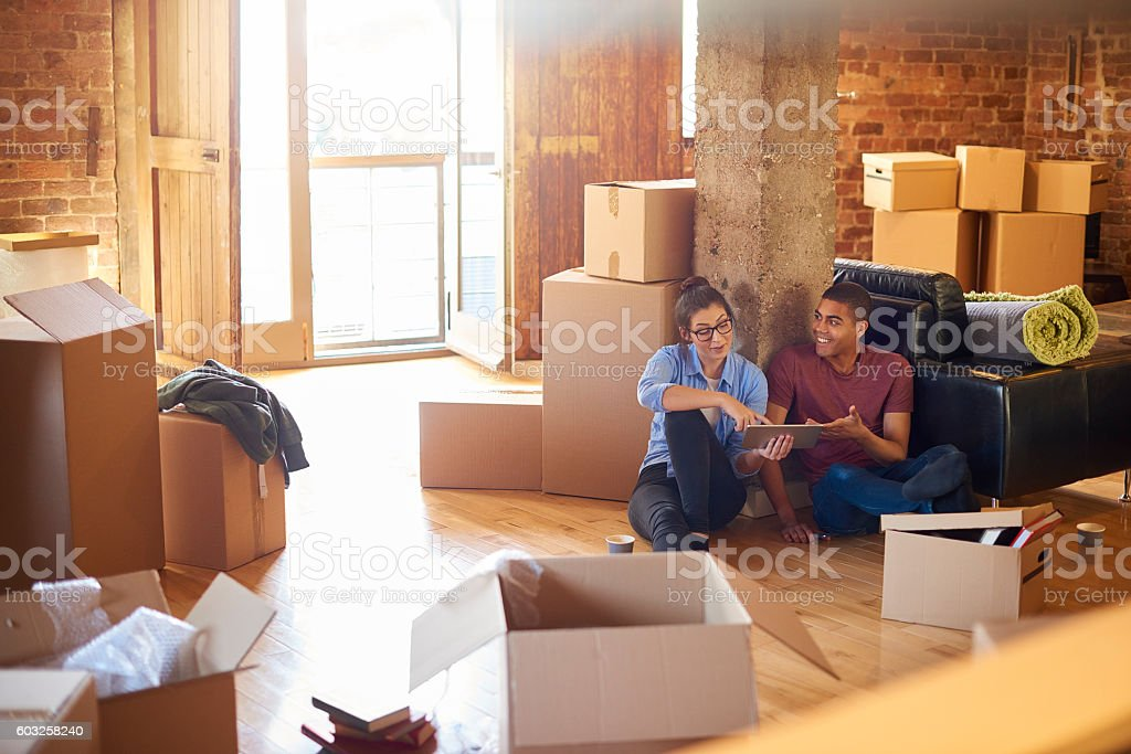 buying the furniture stock photo