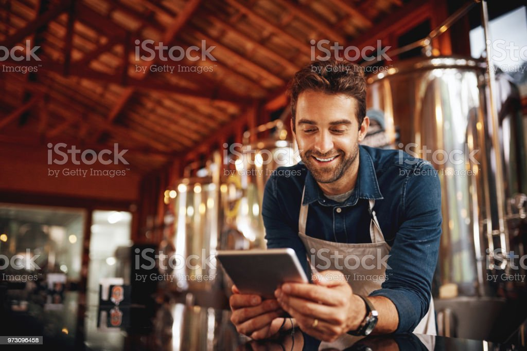 Buying time while waiting for customers stock photo