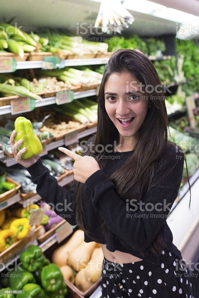Buying Vegetables stock photo