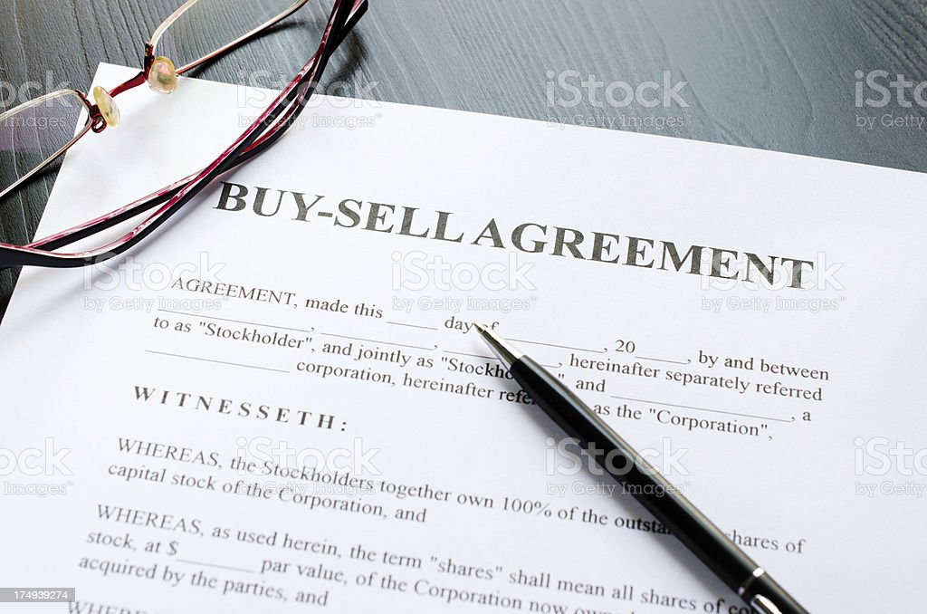 buy-selll agreement royalty-free stock photo