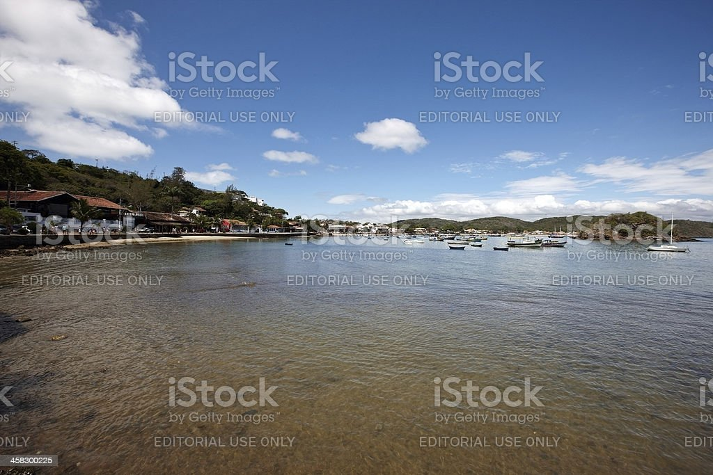 Buzios beach and harbour royalty-free stock photo