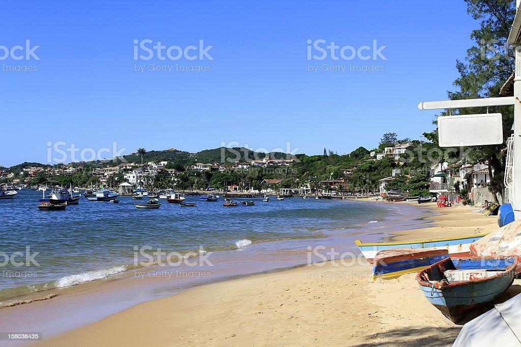 Buzios, state of Rio de Janeiro royalty-free stock photo