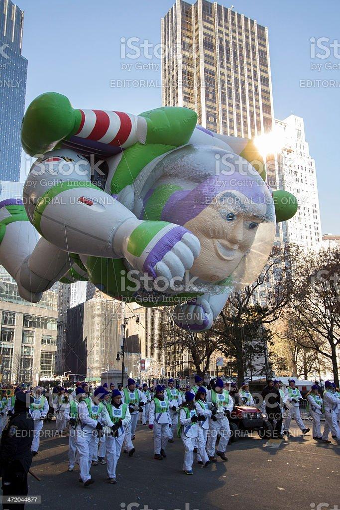 Buzz Lightyear balloon in 2013 Macy's Parade stock photo