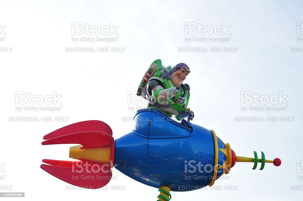 'Buzz Lightyear' in Tokyo-Disneyland, Japan stock photo