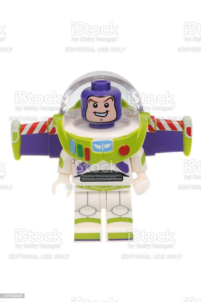 Buzz Lightyear Lego Disney Series 1 Minifigure stock photo