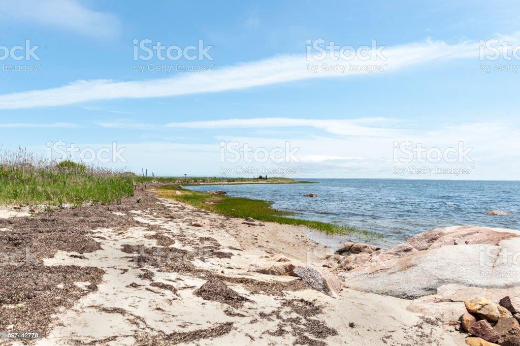 Buzzards Bay coastline stock photo