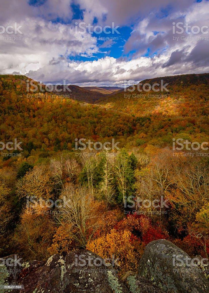 Buzzards Roost Overlook stock photo