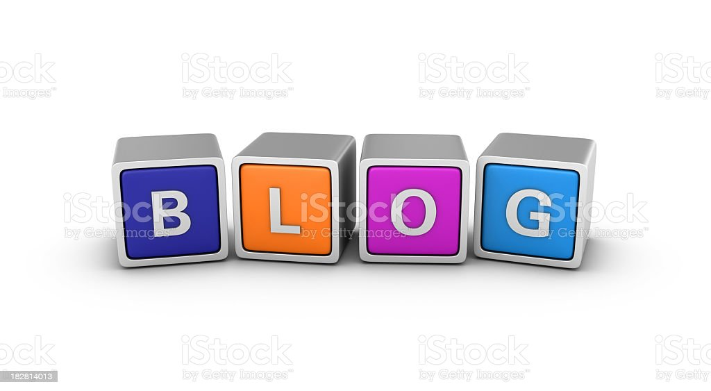 Buzzword Blocks: BLOG royalty-free stock photo