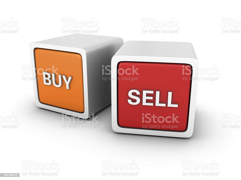 Buzzword Blocks: BUY SELL royalty-free stock photo