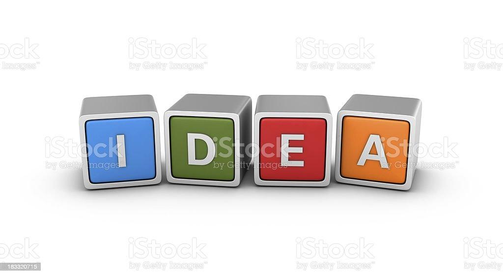 Buzzword Blocks: IDEA royalty-free stock photo
