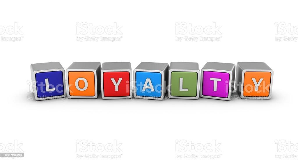 Buzzword Blocks: LOYALTY royalty-free stock photo