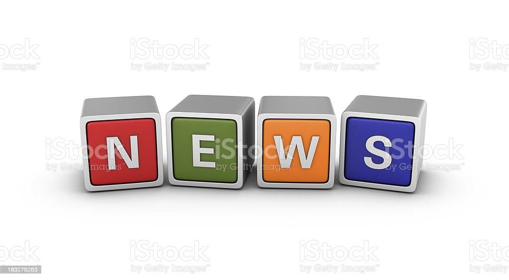 Buzzword Blocks: NEWS royalty-free stock photo