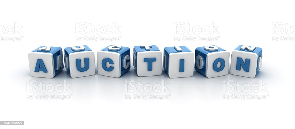 Buzzword Blocks Series - AUCTION stock photo