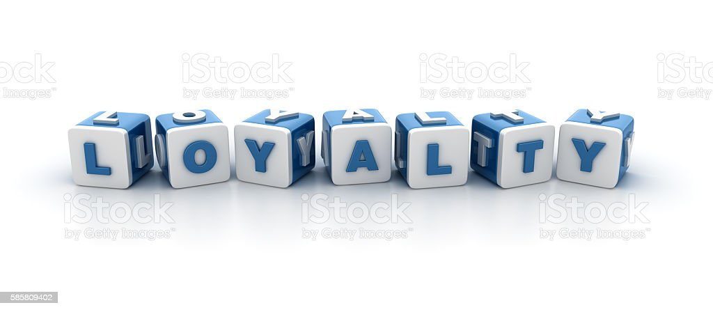 Buzzword Blocks Series - LOYALTY stock photo