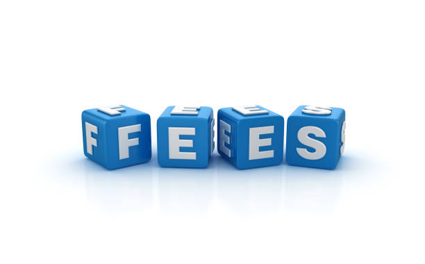 FEES Buzzword Cubes - 3D Rendering FEES Buzzword Cubes - White Background - 3D Rendering fee stock pictures, royalty-free photos & images