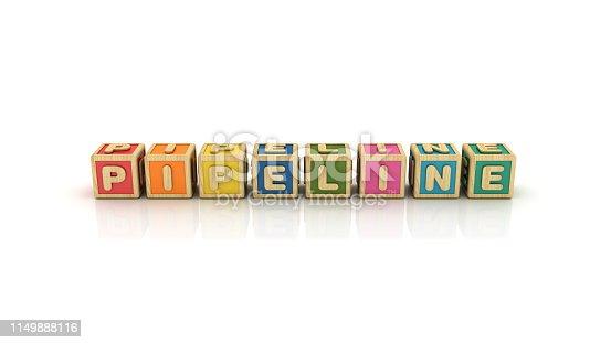 istock PIPELINE Buzzword Cubes - 3D Rendering 1149888116