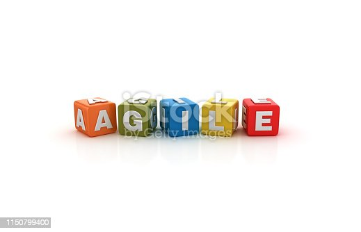 1144568268 istock photo AGILE Buzzword Cubes - 3D Rendering 1150799400
