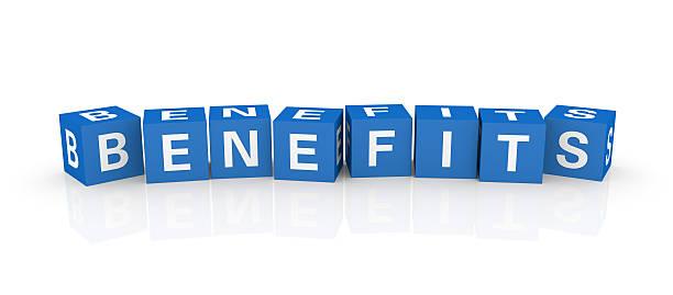 Buzzword Cubes: Benefits stock photo