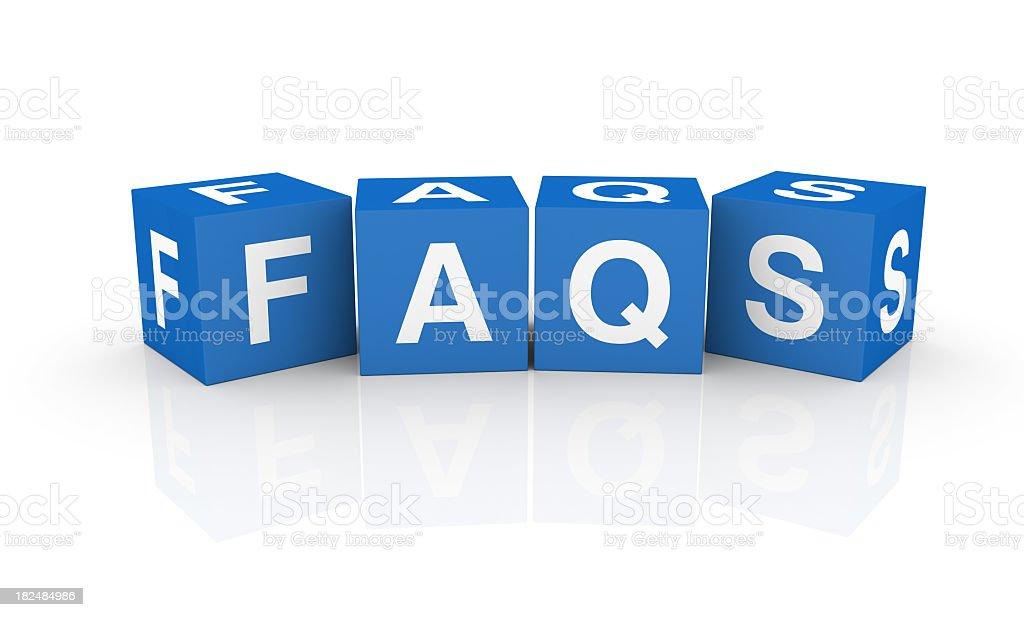 Buzzword Cubes: FAQs stock photo