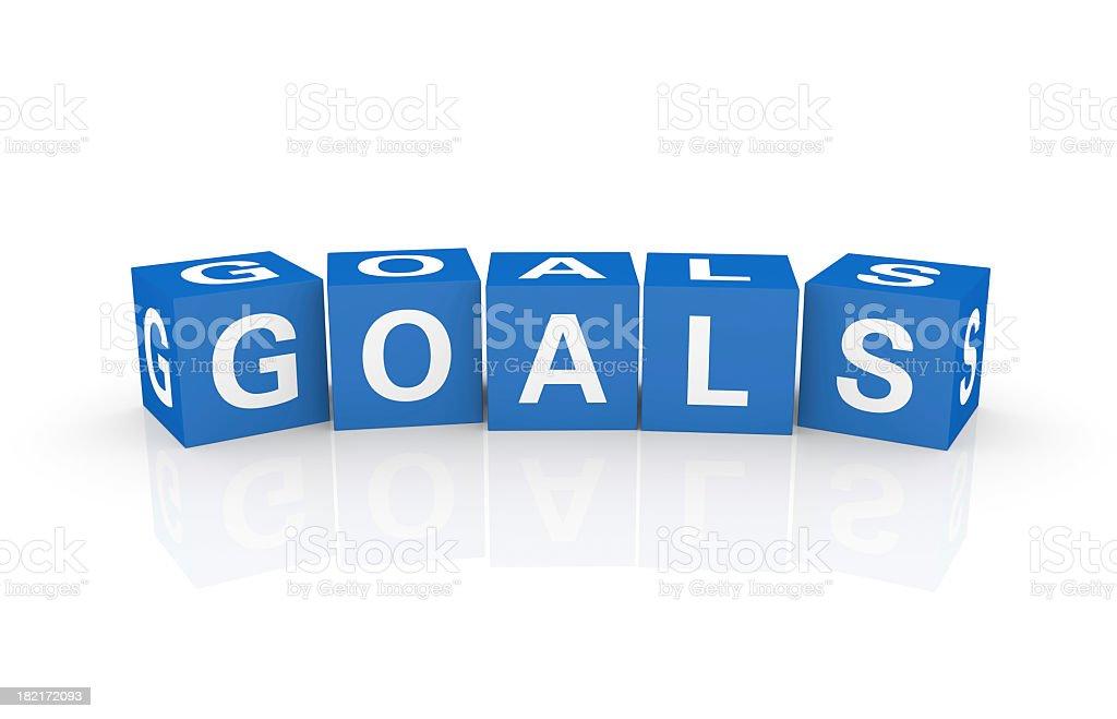 Buzzword Cubes: Goals royalty-free stock photo