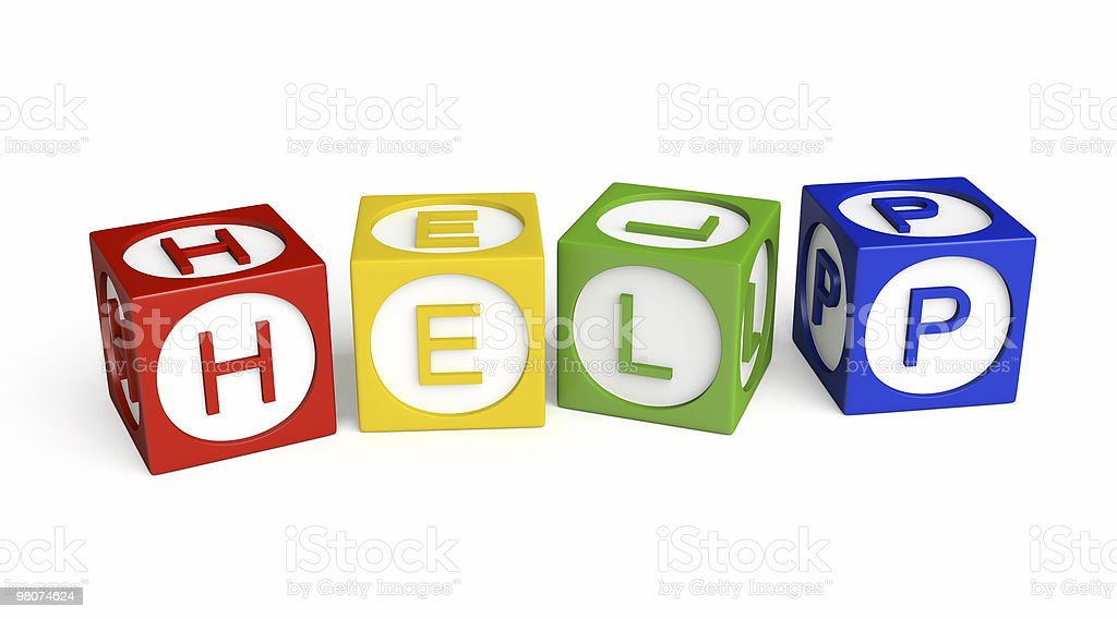 Buzzword Cubes: HELP royalty-free stock photo