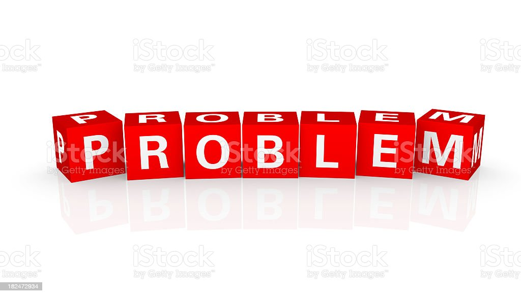 Buzzword Cubes: Problem royalty-free stock photo
