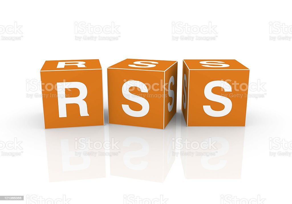 Buzzword Cubes: RSS royalty-free stock photo
