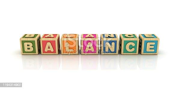 171274866 istock photo BALANCE Buzzword Cubes - Spanish Word - 3D Rendering 1194314902