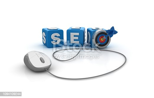 1172996896 istock photo SEO Buzzword Cubes with Target and Computer Mouse - 3D Rendering 1094109244